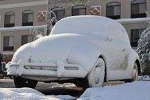 miss hilda 1966 vw bug snow montana